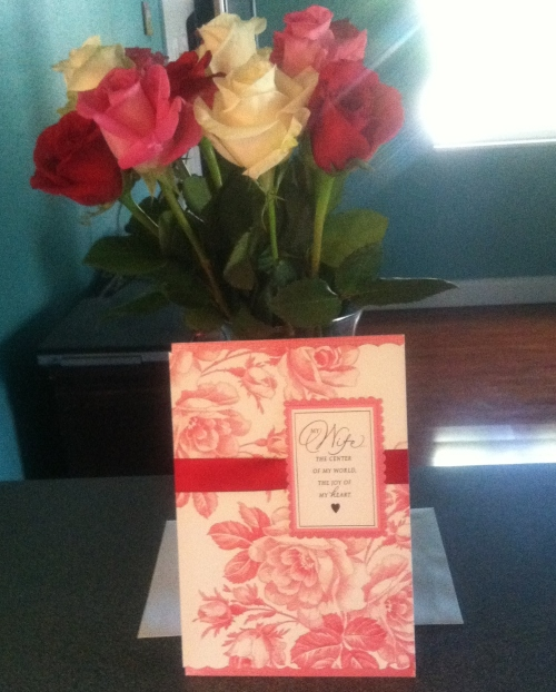 roses from brian Valentines 2015