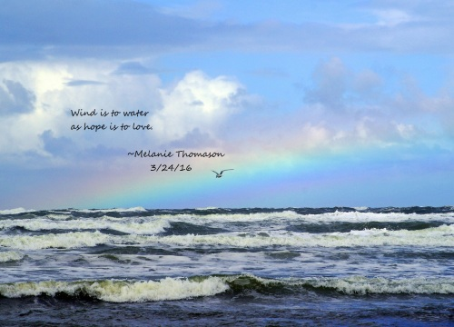sea with quote
